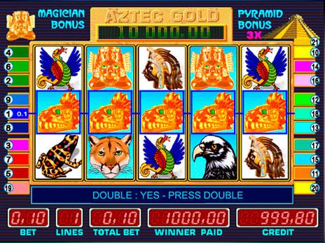Игровые автоматы Aztec Gold максимальн